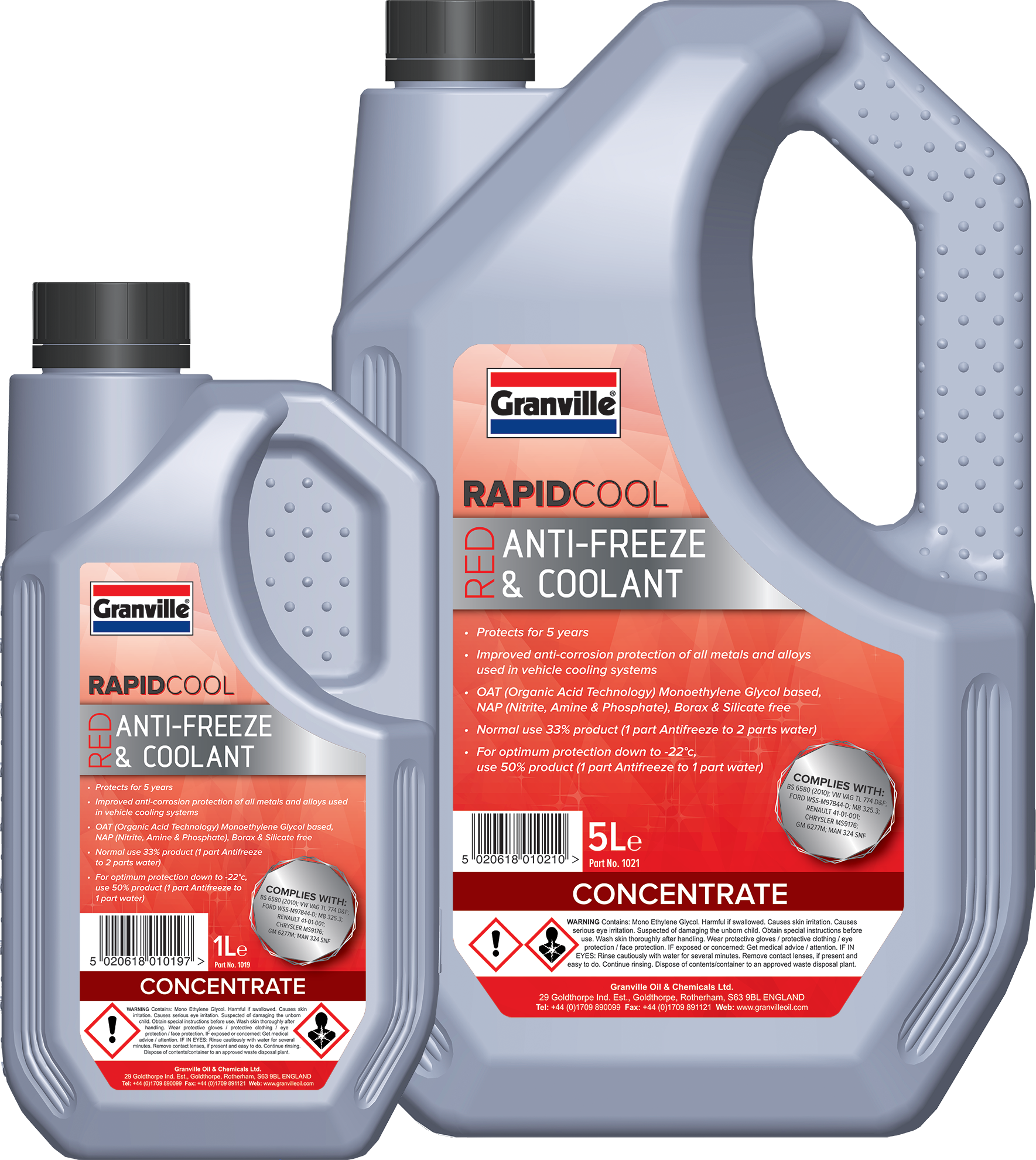 Granville Introducing Rapid Cool Antifreeze Coolant Gm Engine Red And Is An Ethylene Glycol Based Concentrate Which Uses Organic Acid Inhibitor Technology Oat